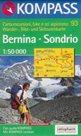 Bernina, Sondrio - mapa Kompass č.93 - 1:50t /Švýcarsko,Itálie/