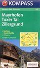 Mayrhofen, Tuxer Tal, Zillergrund - mapa Kompass č.037 - 1:25 000 /Rakousko/