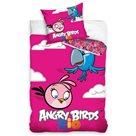 TipTrade Bavlněné povlečení Angry Birds Pink 140x200 70x80cm