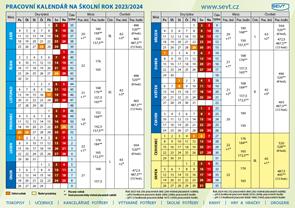 Plánovací kalendář - školní rok 2017/2018