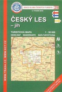Český les - jih - mapa KČT č.29 - 1:50t