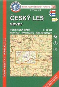 Český les - sever - mapa KČT č.28 - 1:50t