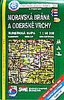 Moravská brána, Oderské vrchy - mapa KČT č.60 - 1:50t