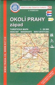 Okolí Prahy - západ - mapa KČT č.36 - 1:50t