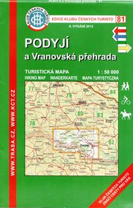 Podyjí a Vranovská přehrada - mapa KČT č.81 - 1:50t