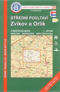 Střední Povltaví, Zvíkov - mapa KČT č.39 - 1:50t