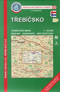 Třebíčsko - mapa KČT č.80 - 1:50t