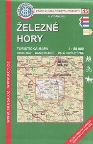Železné hory - mapa KČT č.45 - 1:50t