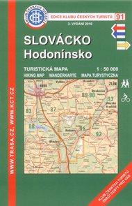 Slovácko - Hodonínsko - mapa KČT č.91 - 1:50t