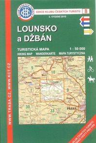 Lounsko a Džbán - mapa KČT 8 - 1:50t