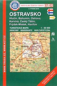 Ostravsko - mapa KČT č.61-62 - 1:50 000