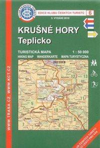 Krušné hory - Teplicko - mapa KČT č.6 - 1:50t