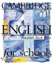 Cambridge English for Schools 4 SB