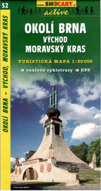 Okolí Brna - východ, Moravský Kras - mapa SHc52 - 1:50t