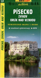 Písecko - Zvíkov, Orlík nad Vltavou - mapa SHc37 - 1:50t