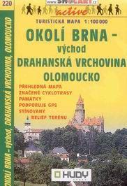 Okolí Brna - východ, Drahanská vrchovina, Olomoucko - mapa Shocart č.220 - 1:100t