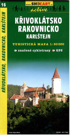 Křivoklátsko, Rakovnicko, Karlštejnsko - mapa SHc16 - 1:50t