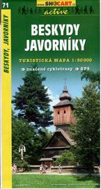 Beskydy, Javorníky - mapa SHc71 - 1:50t