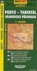 Podyjí - Thayatal, Vranovská přehrada - mapa SHc53 - 1:50t