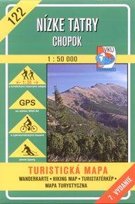 Nízké Tatry - Chopok - mapa VKÚ č.122 - 1:50 000 /Slovensko/