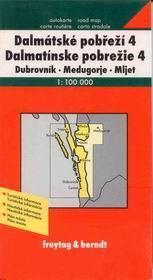 Chorvatsko - Dalmácie č.4 - mapa Freytag - 1:100 000