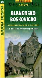 Blanensko, Boskovicko - mapa SHc56 - 1:50t