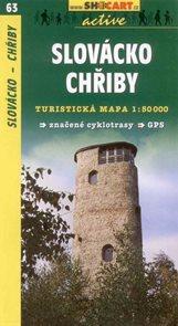 Slovácko - Chřiby - mapa Shocart č.63 - 1:50 000
