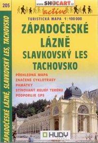 Západočeské lázně, Slavkovský les, Tachovsko - mapa SHocart č.205 - 1:100t