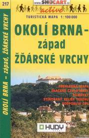 Okolí Brna - západ, Žďárské vrchy - mapa Shocart č.217 - 1:100t