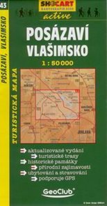 Posázaví, Vlašimsko - mapa SHc43 - 1:50t