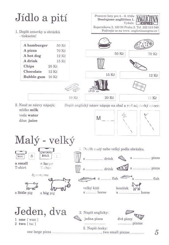 Doucujeme Anglictinu 1 Pracovni Listy Pro 4 6 R Zs Kelly