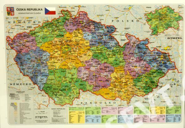 Ceska Republika Fyzicka Kraje Mapa A3 Sevt Cz
