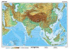 Jizni Asie Geograficka Politicka Mapa A3 Sevt Cz