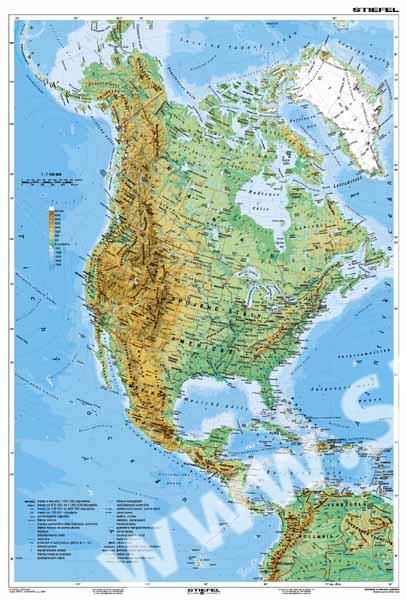 Mapa Geograficka Mapa Severni Ameriky
