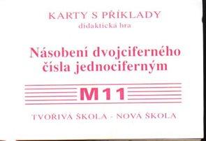 Sada kartiček M11 - násobení dvojciferných čísel jednociferným