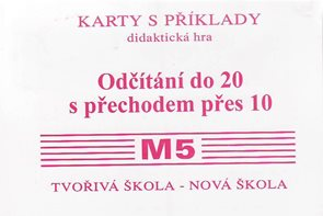 Sada kartiček M5 - odčítání do 20 s přechodem přes 10