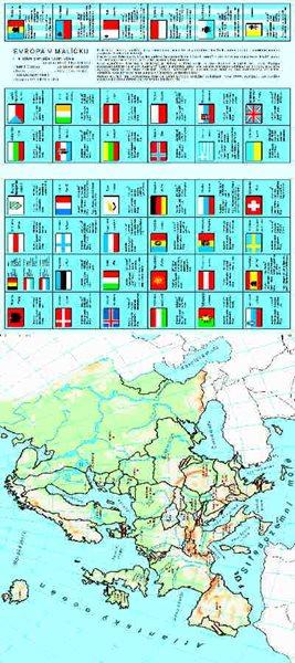 Evropa v malíčku - 32x92 cm (asi 4xA4), křídový karton