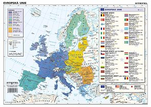 Evropská unie - mapa A3