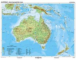 Austrálie a Nový Zéland geografická/ politická - mapa A3
