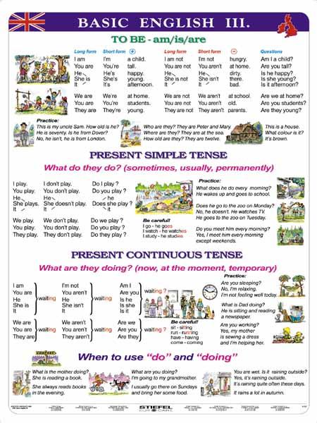 Basic English III - tabulka A4 - lamino (21 x 30 cm)