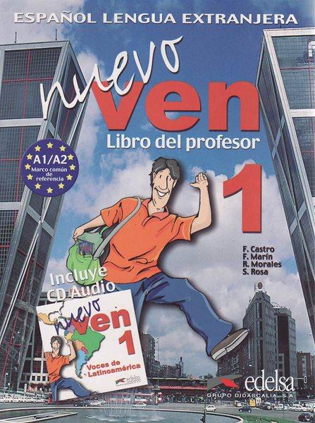 Nuevo Ven 1 - Libro del profesor+CD (metodika) - Castro,Marín,Morales,Rosa - A4, brožovaná