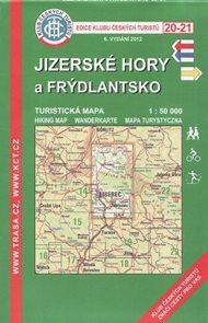 Jizerské hory a Frýdlantsko - mapa KČT č.20-21 - 1:50t