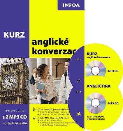 Kurz anglické konverzace + MP3 CD /2ks/ - neuveden - A5, brožovaná