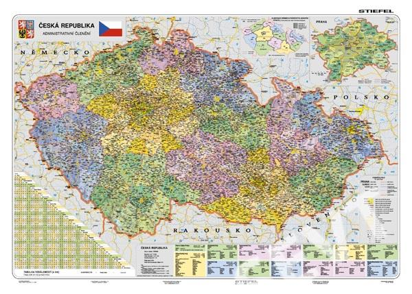 Ceska Republika Administrativni Mapa A2 Sevt Cz