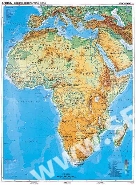 Afrika Obecne Geograficka Mapa Politicka Mapa Sevt Cz