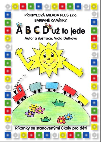 Barevné kamínky - ABCD už to jede - Dufková Viola - A5, kroužková