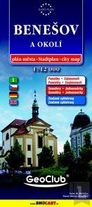 Benešov a okolí, Vlašim a okolí 1: 12 000 - plán města