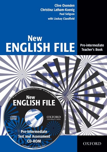 New English File pre-intermediate Teachers Book + CD-ROM - Oxenden C., Latham-Koenig Ch., Seligson - A4, brožovaná