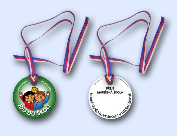 Barevné kamínky - Pamětní medaile pro předškoláka Jdu do školy