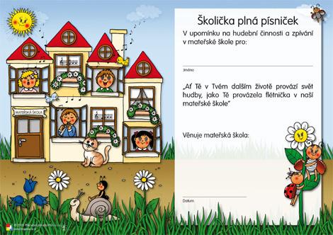 Barevné kamínky - Diplom pro malé hudebníky - A4